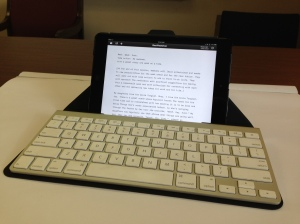 iA Writer on iPad mini